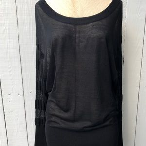 UNDERLIGNE doo.ri black thin knit long sleeve top